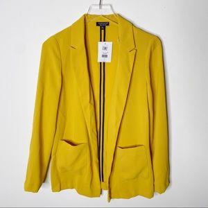 Topshop Mustard Double Pocket Blazer Jacket Size 4